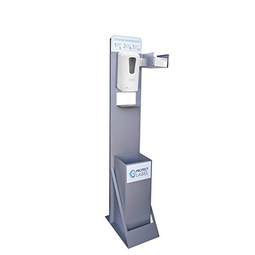 Auto Label Punto Higiénico Higienizante Dispensador Premium Automático, Papelera y Soporte Cajetín