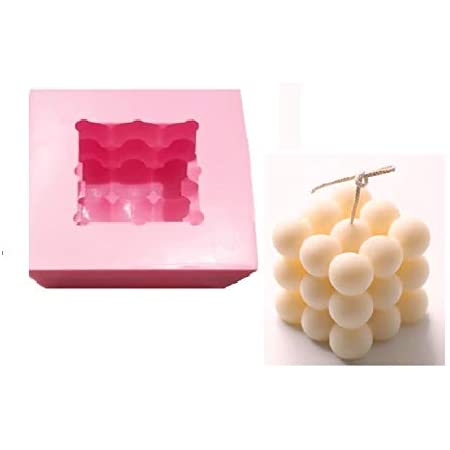 3D Silicone Mold DIY Candle Mould Wax Mold Handmade Candle Mold Holder Making Ball Size...7.cm x 7cm