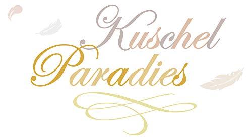 Lustiger Pastell Schlafzimmer Wandtattoo Spruch Kuschel Paradies Bett Love