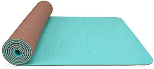 GDFEH Esterilla Yoga Colchonetas de entrenamiento Eco Friendly TPE Pilates Mat, colchonetas de yoga gruesas sin deslizamiento que llevan la estera de entrenamiento de la correa para el yoga, pilates y