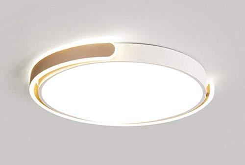 Modern LED-Deckenlampe Runde Modern Deckenleuchte Champagnerfarbe Burolampe Disign Minimalistisch aus Metall und Acryl fur Buro Esszimmer Wohnzimmer Schlafzimmer Terasse Kaltweis 40W 038*5CM 2800LM