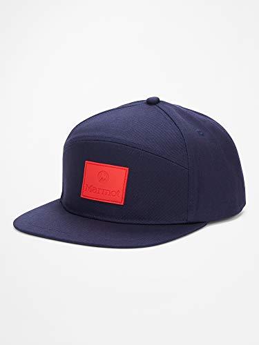 Marmot Erwachsene Quartz Hybrid Cap Baseballcap, Kappe Mit Uv-Schutz, Verstellbar, Für Outdoor, Sport Und Reisen, Arctic Navy/Victory Red, ONE
