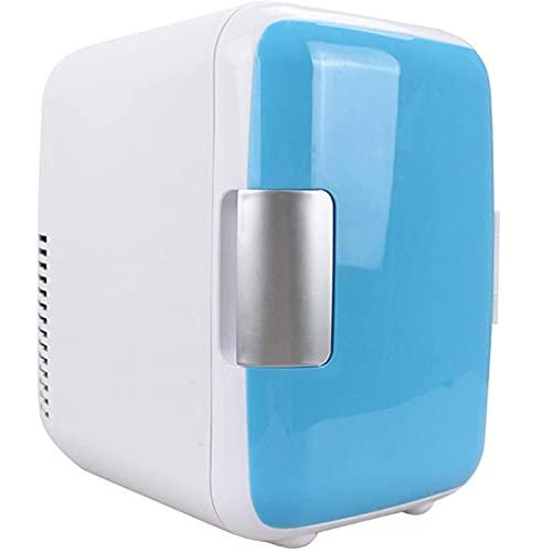 4L Mini Refrigerador para Automóvil, Refrigerador Pequeño Portátil Silencioso,Utilizado para Encendedor de Cigarrillos de 12 Vtoma de 220 V,para Dormitorio, Oficina,Cámping