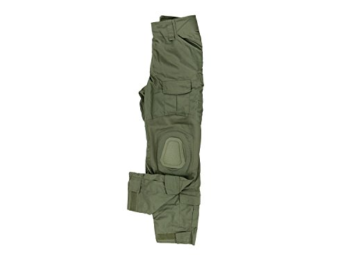 Invader Gear Predator Combat Hose, mit 10 Taschen & Knieschonern - Olive, Größe:M
