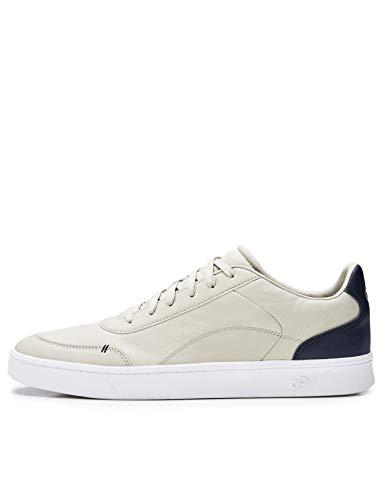 CARE OF by PUMA knöchelfreie Sneaker für Herren aus Leder, Beige, 42.5 EU
