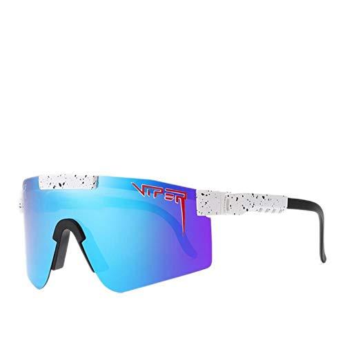 UKKD Gafas de sol hombre Deportes Gafas de sol Hombres Polarizadas Tr90 Material Uva/Uvb Lente Gafas de sol Mujeres