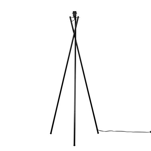 Modern Gloss Black Metal Tripod Floor Lamp Base