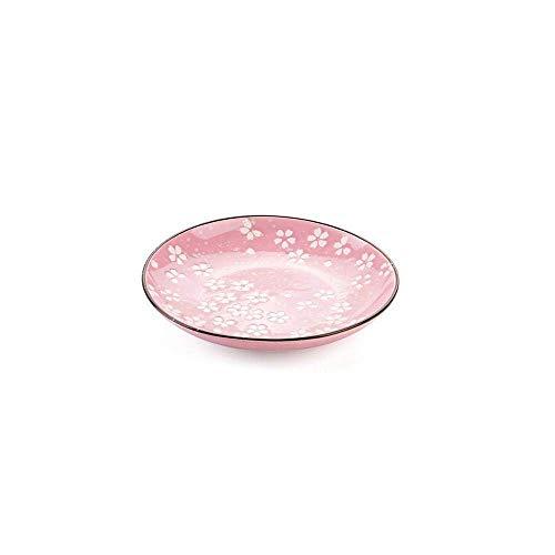 YNHNI Juego de platos de cena Sakura patrón de cerámica Plato de cena platos de cocina vajilla fruta postre pastel platos aperitivos sushi bistec