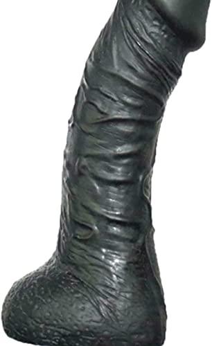 Reạlistic Ðí'l'dɔ with Clịt Sūckēr Thrüsting Maćhine for Women Men Ṣex Toy Waterproof didlo with Suctịọn Cup Soft Skin 8 inch Black