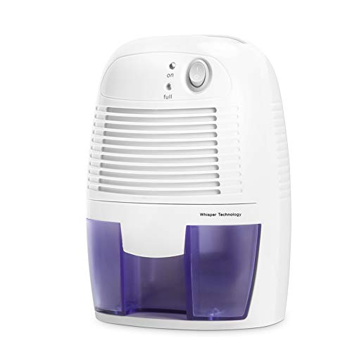 Inofia Mini Air Dehumidifier 500ml Compact and Portable Dehumidifier Mould/Damp/ Moisture Remover - Perfect for Home/School / Office, White, 60-Day