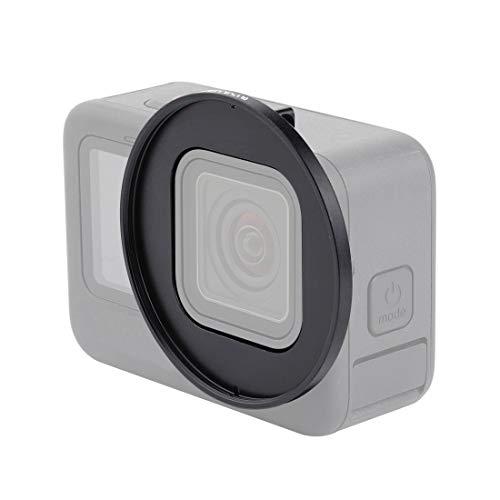 PULUZ Anillo adaptador de filtro de lente UV de 52 mm para GoPro Hero 9 Negro