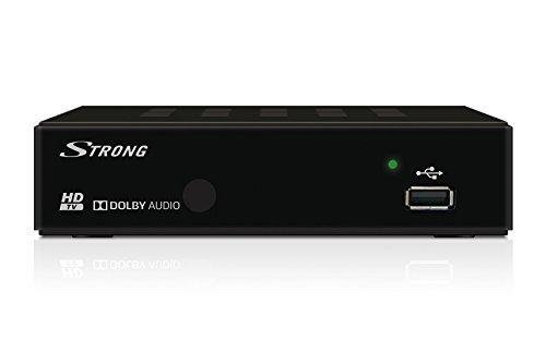 Strong SRT 8114 Décodeur TNT Full HD - Récepteur/Tuner TV avec fonction enregistreur (HDMI, Péritel, USB, Dolby Digital Plus) - Noir