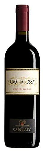 1 bottiglia x 0.75 l - Carignano del Sulcis Doc Grotta Rossa, Cantina di Santadi. Vino rosso sardo a base Carignano