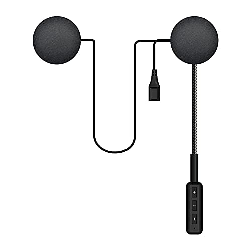 Geva Motorbike Bluetooth Helmet Headphones,Bluetooth 5.0 Motorcycle Wireless Headset,Motorcycle Headset speakers with Intelligent Noise Cancelling Supports Hands-free call/Auto Pairing/Auto Answer