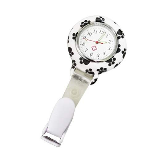 NICERIO Clip-On-Uhr Krankenschwester Anstecknadel Uhr Unisex Hängen Medizinische Taschenuhr Anstecknadel Uhr Krankenschwester Quarzuhr