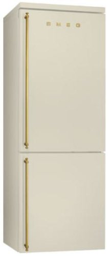 Smeg FA8003PO Independiente 356L A+ Crema de color nevera y congelador - Frigorífico (356 L, SN-T, 18 kg/24h, A+, Compartimiento de zona fresca, Crema de color)