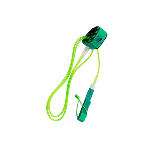 Tenlacum - Correa para Tabla de Surf (6 pies 8 pies 10 pies 12 pies de Longitud, 6 mm de diámetro), Verde 8 pies