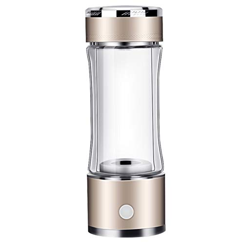HEN'GMF Glass Hydrogen Generator Water Bottle, Hydrogen-rich Generator Water Bottle, SPE PEM Technology Water Ionizer, High Concentration Discharge Ozone and Chlorine,Brown