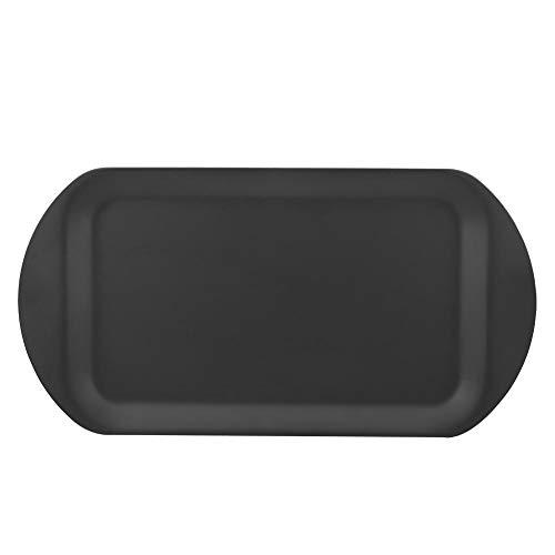 Delaman - Vassoio per scongelamento, 2 in 1, in alluminio, per scongelare e scongelare il cibo, per carne, accessorio da cucina, colore: nero