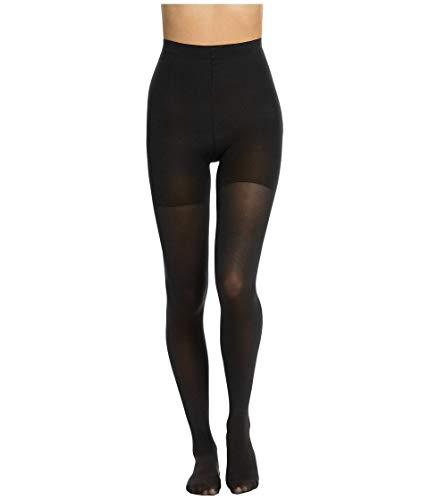 Spanx Women's Luxe Leg Mid-Thigh Shaping Tights Very Black B