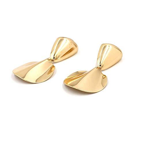 JY Novelty Jewelry-Women Earring Studs Earring Drop Earrings Ear Line,Personality Hipster Earrings Europe and America Exaggerated Metal Geometric Shape Long Earrings Gold, Ladies Bi