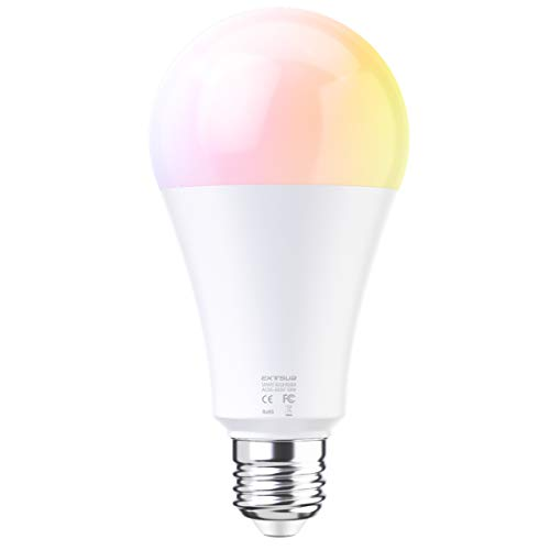 EXTSUD Smart LED WiFi Lampen Dimmbar Mehrfarbig RGB LED Birne Arbeit mit Smartphone,Tablet, Amazon Echo Plus Alexa,Google Home (10W E27)