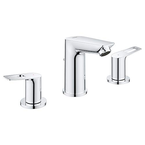 GROHE 20225001 Bauloop 8-Inch Widespread 2-Handle M-Size Bathroom Faucet 1.2 GPM, Wide, Starlight Chrome