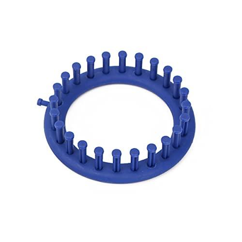 Tejer telares, forma redonda sombrero ropa tejida artefacto herramienta (azul)
