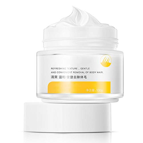 Crema depilatoria para hombres y mujeres, crema depilatoria de 100 ml, depilación rápida y fácil, deja la piel suave, para las axilas de las piernas zona del bikini