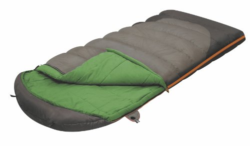 ALEXIKA Unisex-Adult Schlafsack Summer Wide Plus, linke Reißverschluss, grün-grau/grün, 230 x 100 cm