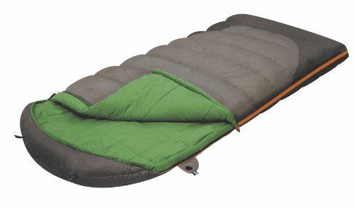 ALEXIKA Schlafsack Summer Wide Plus, rechte Reißverschluss, grün-grau / grün, 100(Breite)x195(Länge)+35(Kopfstütze Länge), 9259.0107R