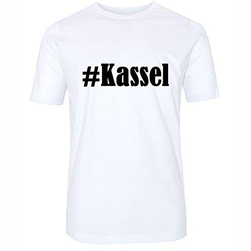 T-Shirt #Kassel Größe 4XL Farbe Weiss Druck schwarz