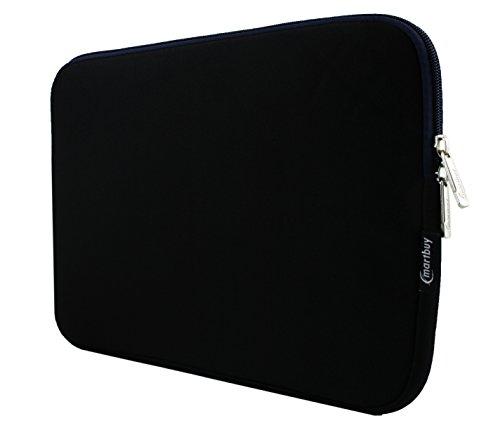 Emartbuy Nero/Midnight Blu Resistente all'Acqua Neoprene Custodia Sleeve Case Cover Morbida Zip Copertura del Manicotto 13-14 Pollici Adatto per Dispositivi Selezionati Elencati di Seguito