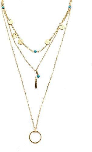 niuziyanfa Co.,ltd Necklace Handmade Lasso Layered Hammer Ring Long Girlfriends Send Girlfriend Gifts