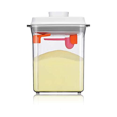 Dispensador de Leche en Polvo de Fórmula,Contenedor Portátil De Alimentos Sellados Para Leche En Polvo, Snacks, Cereales (2300ML)