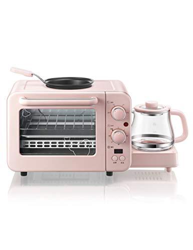 JKDKK Ofen Multifunktions 3 In 1 Frühstücksmaschine 8L Elektro Mini-Ofen Kaffeemaschine Eier Bratpfanne Haushaltsbrot Pizzaofen Grill, 1