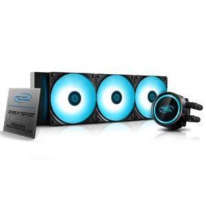 DeepCool Gammaxx L360 RGB V2 Sistema de refrigeración antileak Radiador de 360 mm Disipador de líquido RGB SYNC 12 V 4 pines compatible con Intel 115X/2066 y AMD AM4