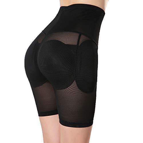TOPMELON Women's Shapewear Butt Lifter Padded Panty Body Shaper Black