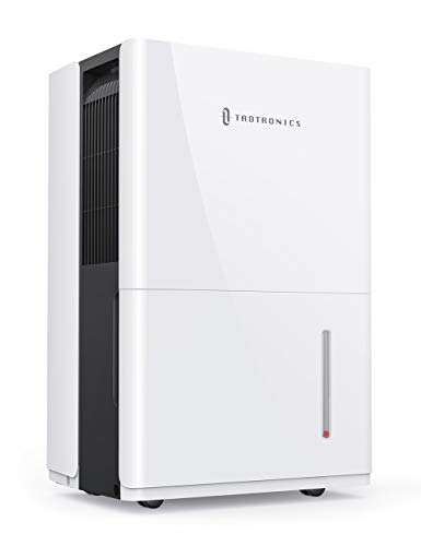 TaoTronics Dehumidifier 50 Pints, 4500 Sq. Ft Energy Star Dehumidifier with Pump, 6L Water Tank, Intelligent Humidity Control, Continuous Drainage for Living Room/Basement/Closet/Bedroom/Bathroom