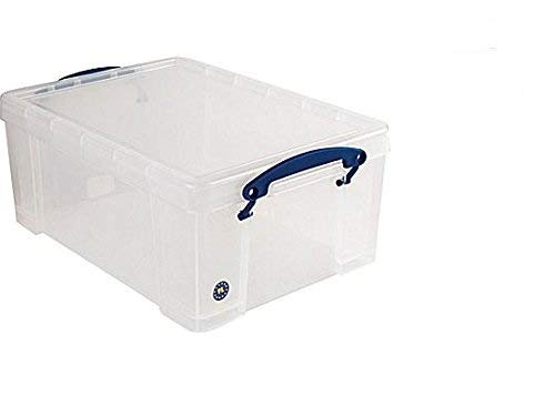 Really Useful Box 3 x 9 Liter - 395 x 255 x 155 mm - für 24 DVDs / A4 Papier - transparant