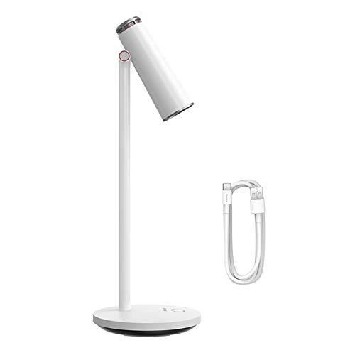 AOUVIK Lámpara de Escritorio Regulable Continua, luz de Lectura de Mesa, protección para los Ojos, lámpara de Escritorio LED, lámpara de Mesa de Estudio de Trabajo Recargable USB