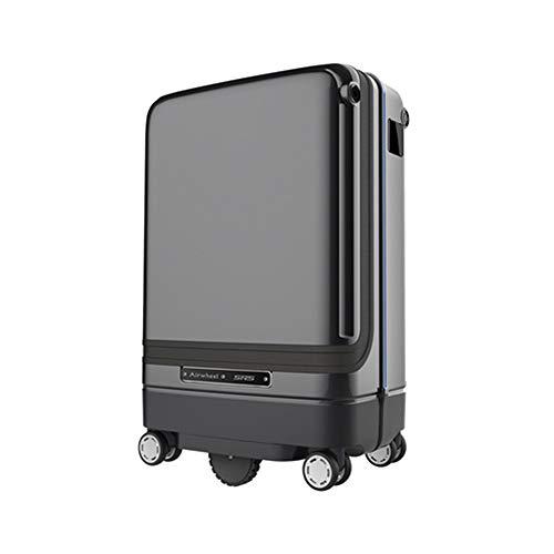 JMFHCD Equipaje Inteligente Maleta SIGA Automáticamente el Equipaje Estuche de Viaje de la Cabina Montar Equipaje de Mano Monopatín Rodando con USB Carga Externa 20 Pulgadas