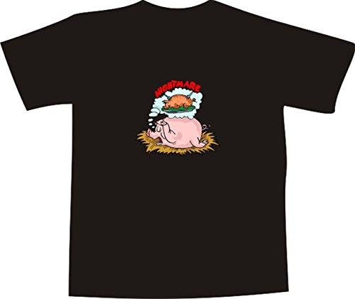 Black Dragon - T-Shirt E934 - Farbe nach Wahl - Größe XXL - Logo - Grafik - Comic Design - Schwein hat Albtraum von Spanferkel - Funshirt Mann Frau Party Fasching Geschenk Arbeit - Bedruckt