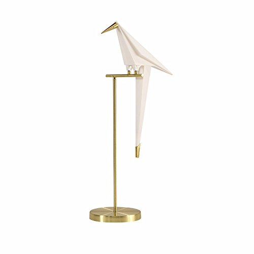 QMPZG-Creative dormitorio Lampara de la mesilla, simple origami pájaro estudio dormitorio dormitorio sala lampara, lampara de la mesilla