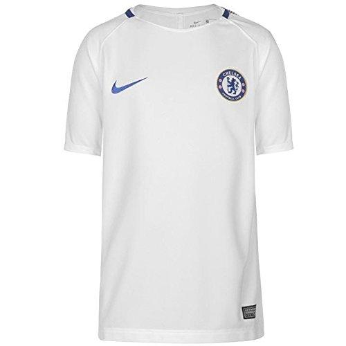 Nike 2017-2018 Chelsea Training Football Soccer T-Shirt Trikot (White) - Kids