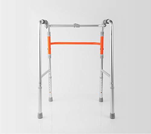 ZXQL Crutch Walking aids, Walker Four feet Old Man Walker Crutch Rehabilitation Boost Rack Foldable Walking aids Bearing Strong