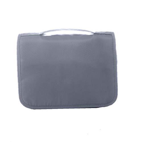 Colgando del artículo de tocador bolsa de viaje impermeabilizan el maquillaje cosmético del organizador del recorrido con un resistente gancho componen Organizador para mujeres y niñas gris 1PC