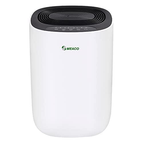Meaco MeacoDry ABC Dehumidifier (Black) 10L - Ultra Quiet Dehumidifier - Energy Efficient Electric Compressor Dehumidifier for home - Removes Condensation & Damp, prevents Mould