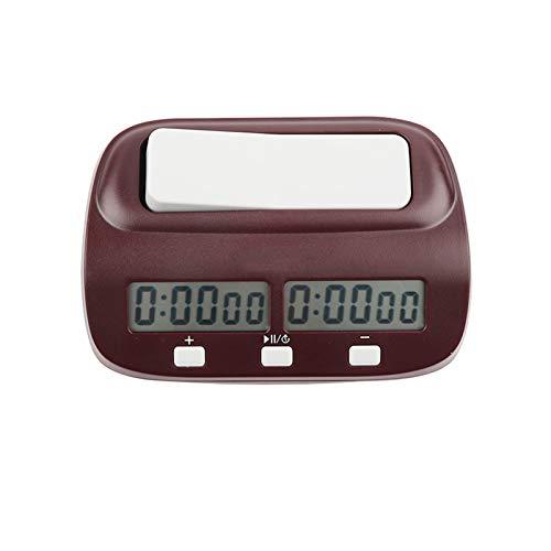 GUOTU Reloj de ajedrez Temporizador de ajedrez Digital Profesional para Juegos de Mesa Temporizador con función de Alarma