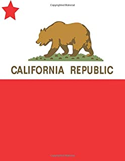 California Republic: California Notebook | California Gifts For Women Men Kids Ladies Boys Girls | Notepads Diary Pads Jou...